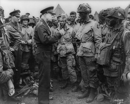 Eisenhower addressing the D-Day troops