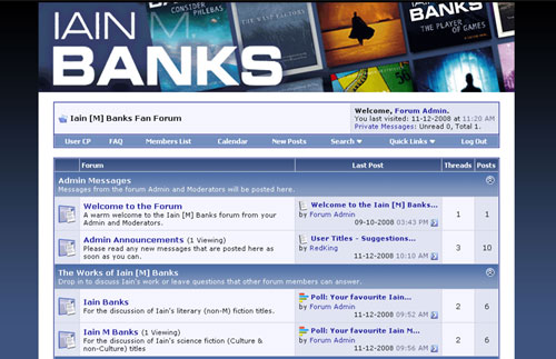 Iain [M] Banks fan forum