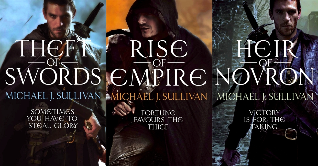 All Three Uk Cvoers For The Epic Fantasy Series Riyria Revelations