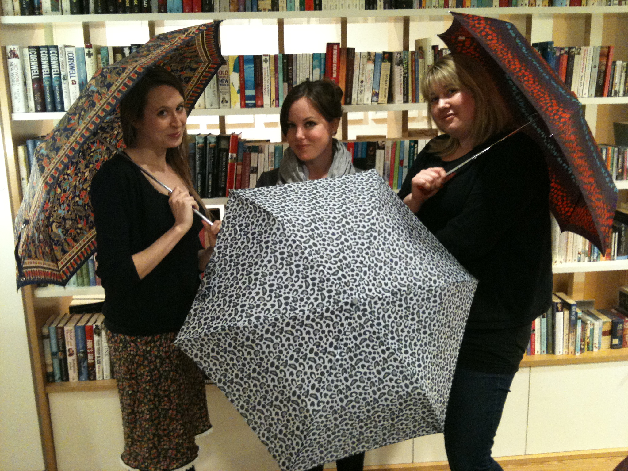 Members Of The Orbit Books Tema Posing With Parasols To Promote The Author  Gail Carriger's Uk