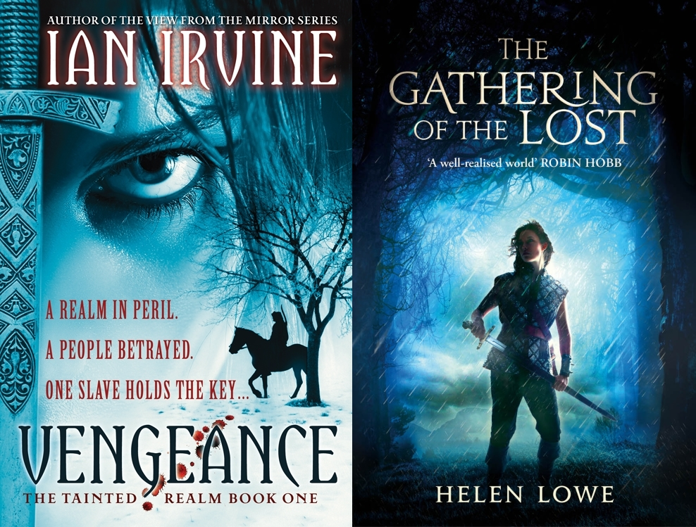 This image shows both the cover of Vengeance and the cover of The Gathering of the Lost