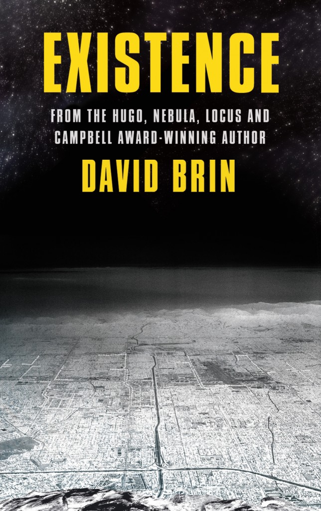 The cover for the science fiction novel EXISTENCE from the award-winnign David Brin