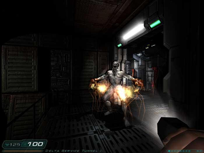 "Doom 3 - ""A flashlight? This is meant to be the future, where the frak's my night-vision?"""