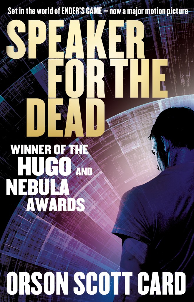 SPEAKER FOR THE DEAD, book 2 in the Ender Saga by Orson Scott Card following Ender's Game - soon to be released as a movie starring Harrison Ford