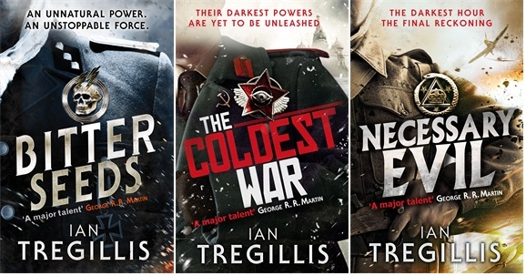 Bitter Seeds, Teh Coldest War and Necessary Evil, the three novesl makign up the Milkweed Triptych, a supernatural alternate history of World War II and the Cold War featuring superhuman Nazis and British warlocks