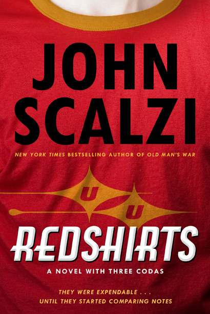 Redshirts, the most recent science fiction novel by John Scalzi, here interviewing Matthew Stover, author of the Acts of Caine novels