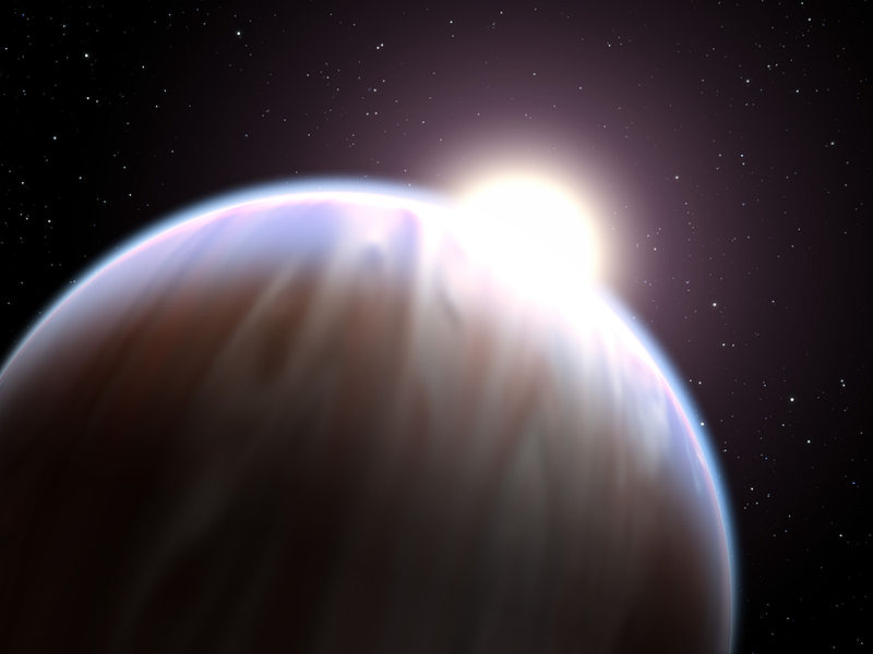 Artist's impression of a hot Jupiter (NASA).