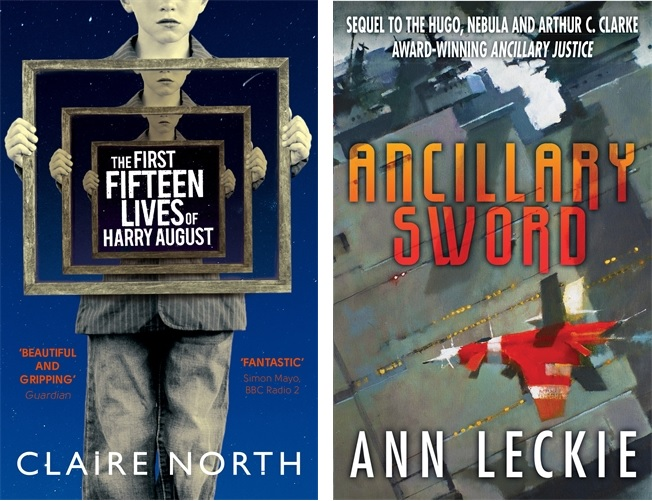 The First Fifteen Lives of Harry August by Claire North and Ancillary Sword by Ann Leckie - both nominated for the BSFA Award 2014