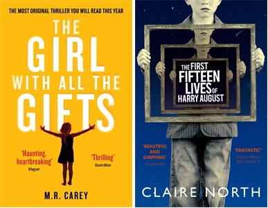 The Girl with all the Gifts by M R Carey and The First Fifteen Lives of Harry August, borth shortlisted for the Arthur C Clarke Awards 2015