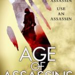 Book cover for Age of Assassins showing a hooded assassin against a castle background