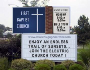 Electric Church Sign