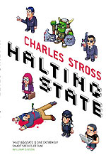 Halting State by Charles Stross, UK Large Paperback