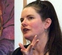 a photo of the fantasy author helen lowe in conversation