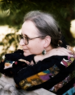 a photograph of science fiction and fantasy author, Elizabeth Moon