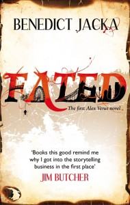 Fated Cover - red text, with shadows of London monuments