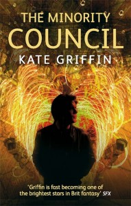 Minority Council cover - a man's sillouette with electrical sparks