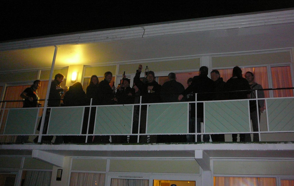 The Orbit/Gollancz party proved so popular that the crowd spilled out onto the balcony!
