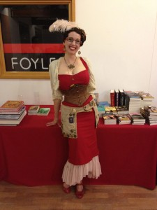 Gail Carriger, author of the steampunk urban fantasy series The Parasol Protectorate, at Foyles during her UK tour