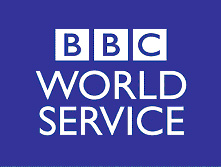 The BBC World Service logo in blue