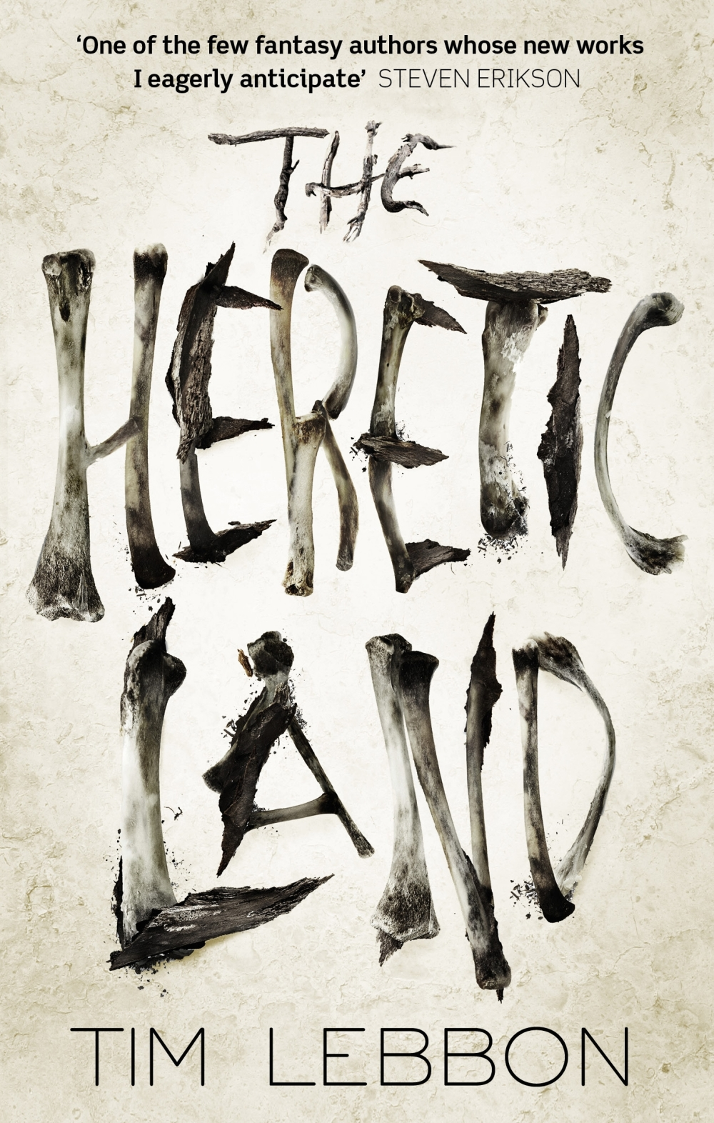 The cover for Tim Lebbon's new fantasy novel THE HERETIC LAND