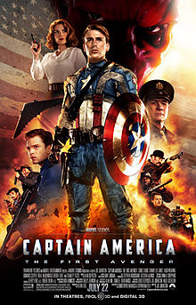 Promotional poster for Paramount's CAPTAIN AMERICA, a superhero movie based on a Marvel comic of the same name - and its link to Bitter Seeds