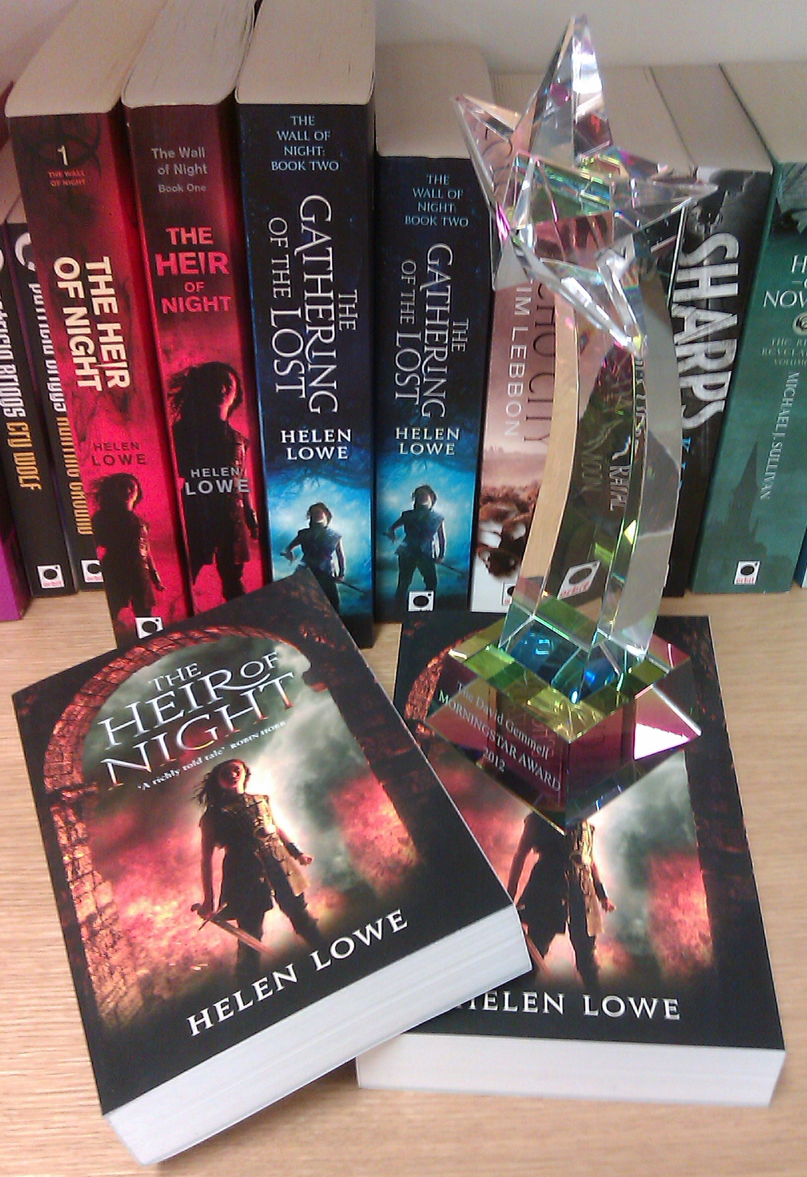 Helen Lowe's trophy for Best Fantasy Debut