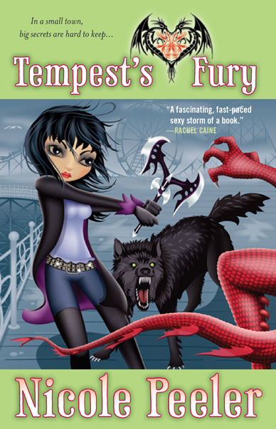The US cover for Tempest's Fury, the fifth book in Nicole Peeler's sexy, sassy and sizzlingly funny urban fantasy series, the Jane True novels