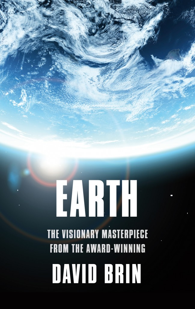 The cover for the eco-thriller science fiction novel EARTH by the award-winning David Brin