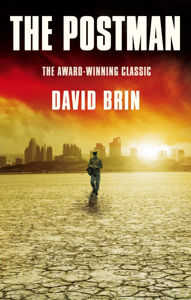 The award-winning post-apocalyptic science fiction novel THE POSTMAN by David Brin