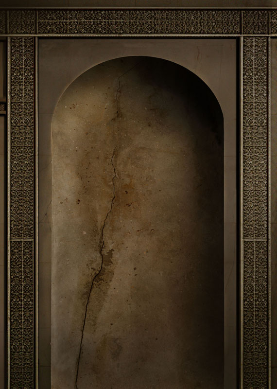 step 2 - background alcove shape 1 - creation of the fantasy novel Wards of Faerie by Terry Brooks