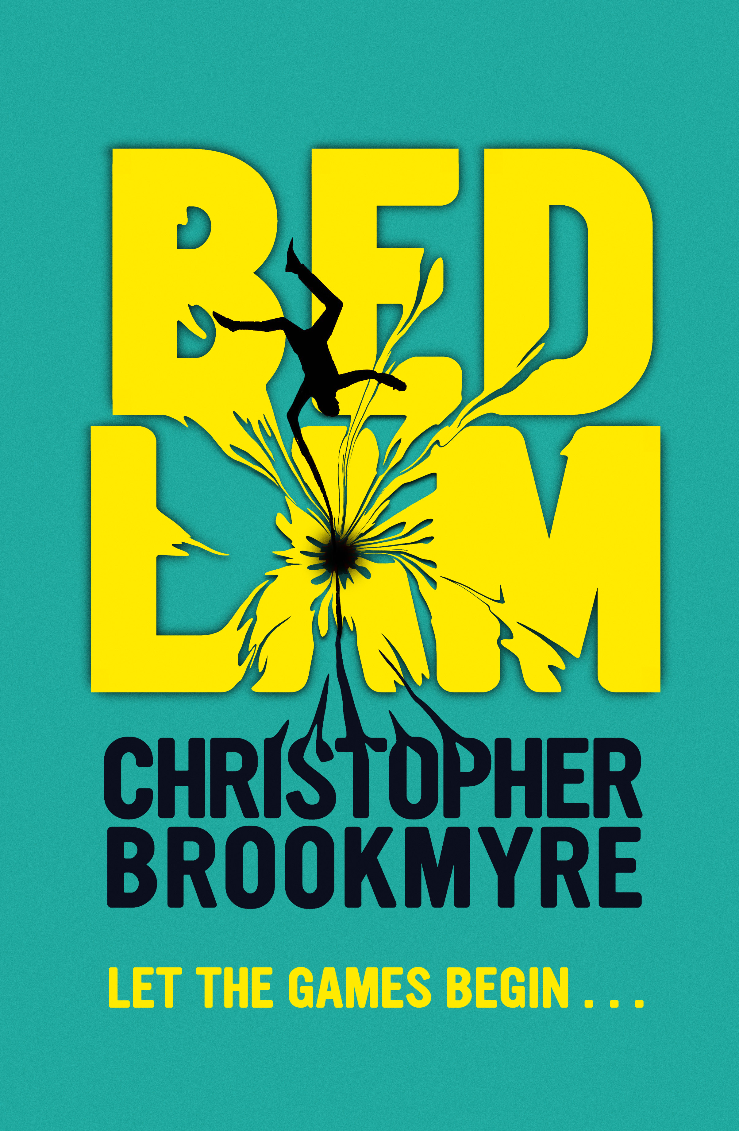 The cover of BEDLAM shows a man falling into a vortex