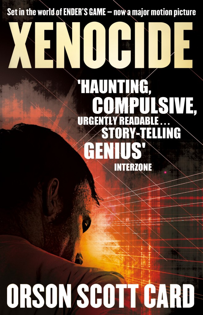XENOCIDE, book 3 in the Ender Saga by Orson Scott Card following Ender's Game - soon to be released as a movie starring Harrison Ford