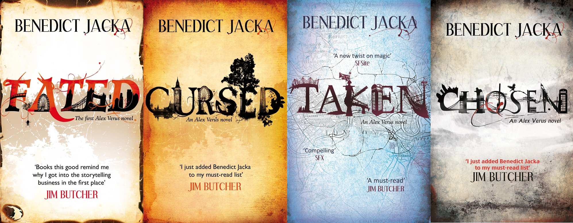 Banner shows the Alex Verus series: magical London urban fantasy by Benedict Jacka