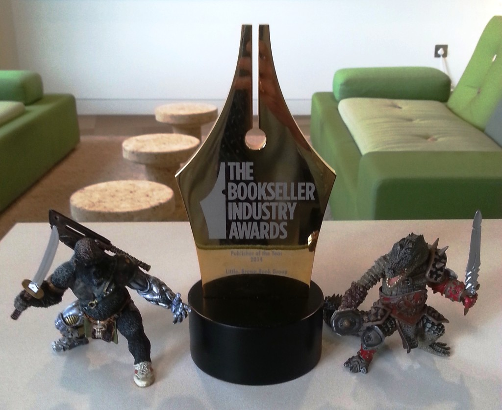 Publisher of the Year Award 2014 for Little, Brown Book Group UK (with Orbit team))