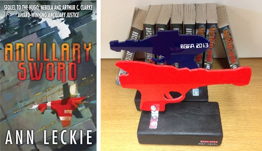 Ancillary Sword by Ann leckie, winner of the BSFA best novel award 2014 and 2015
