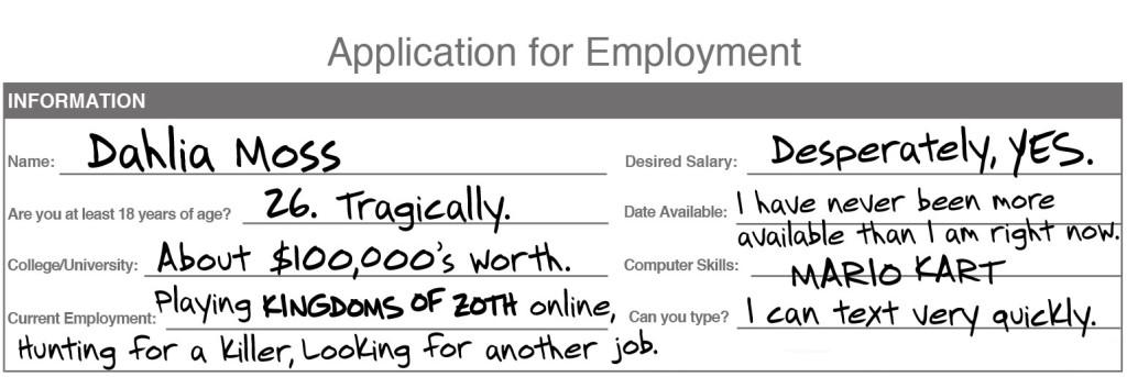 Dahlia-Job-Application