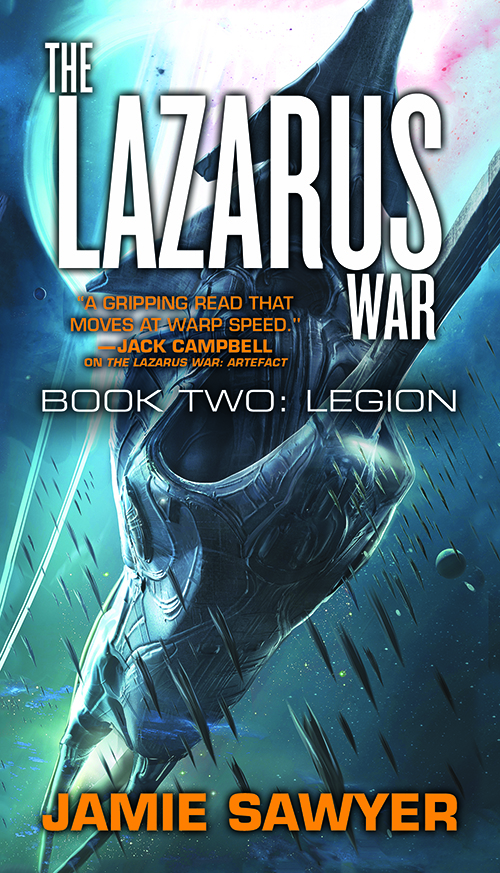 Book cover for The Lazarus War Legion by Jamie Sawyer - a science fiction adventure