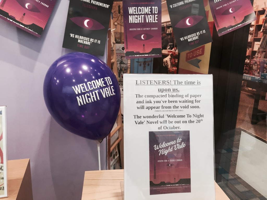Night Vale window display, Waterstones Grimsby