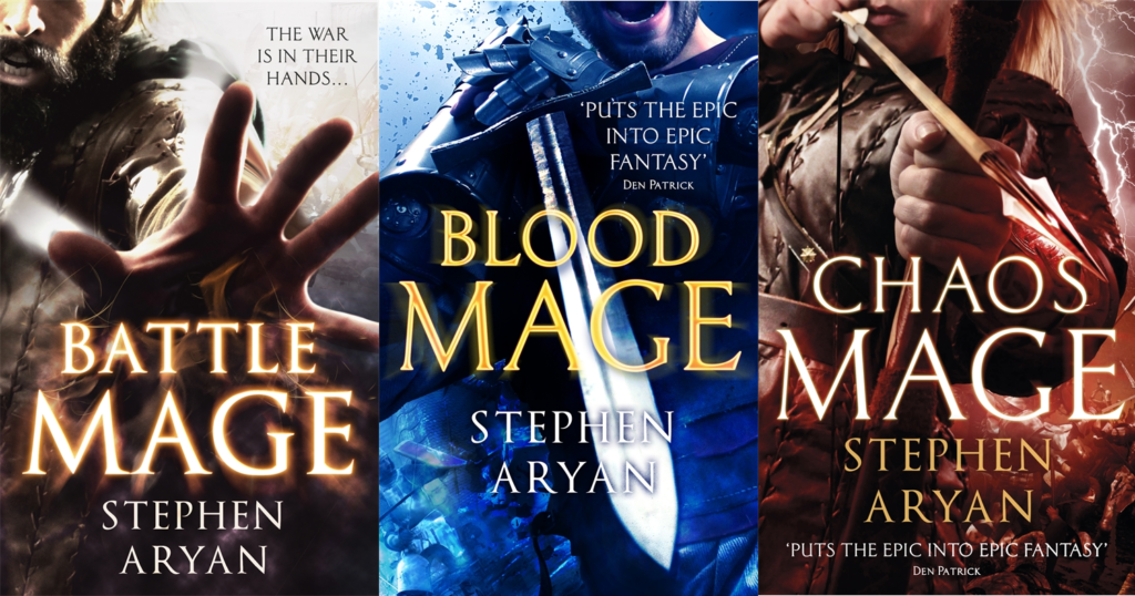The Age of Darkness trilogy by Stephen Aryan