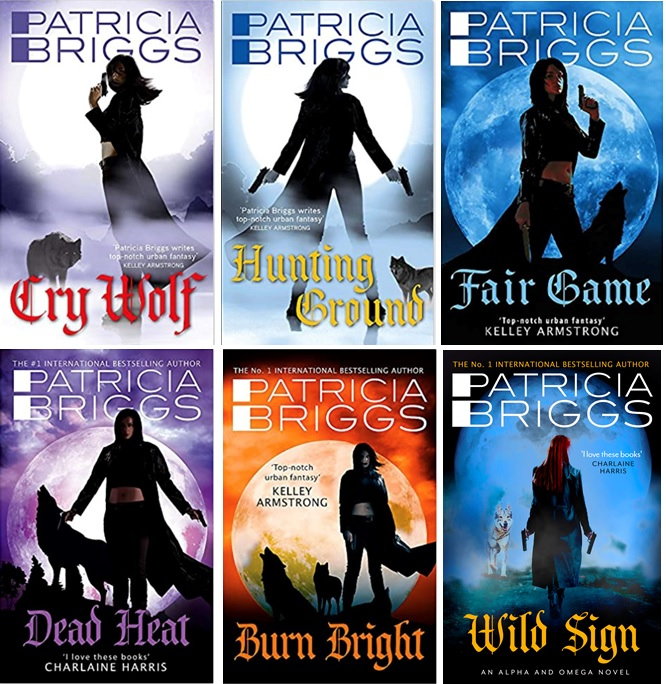 The Alpha and Omega series by Patricia Briggs (UK covers)